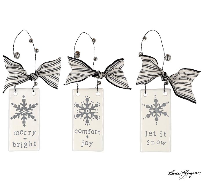 SNOWFLAKE ASSORTED DESIGN ORNAMENTS