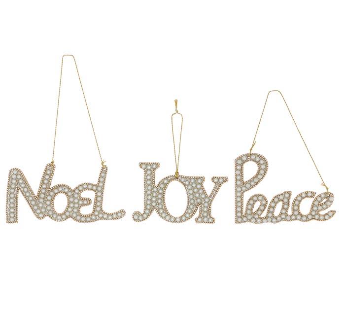 PEACE JOY NOEL ORNAMENT ASSORTMENT