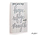 HOPE REFUGE STRENGTH WALL HANGING