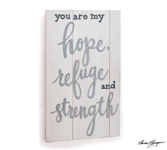 HOPE REFUGE STRENGTH WALL HANGING