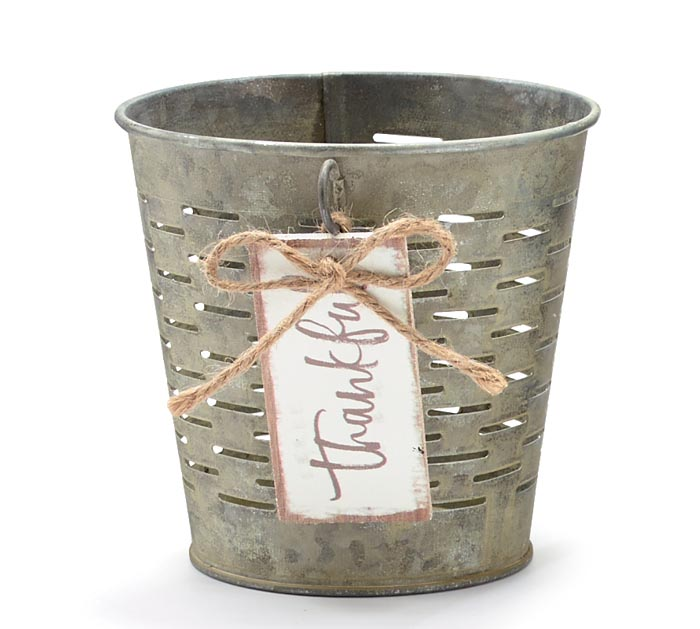 OLIVE STYLE POT COVER WITH THANKFUL TAG