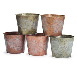 "6"" RAISED LEAF POT COVER ASSORTMENT"