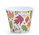 "4"" AUTUMN LEAVES MELAMINE POT COVER"