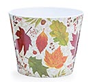 "6"" AUTUMN LEAVES MELAMINE POT COVER"