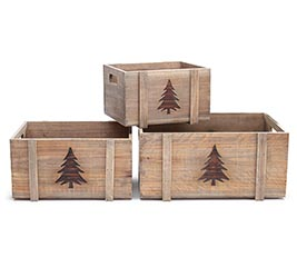 NESTED CHRISTMAS TREE PLANTERS