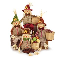 SCARECROW WITH SIDE BASKET ASSORTMENT