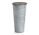 LARGE GALVANIZED TIN FLOWER VASE