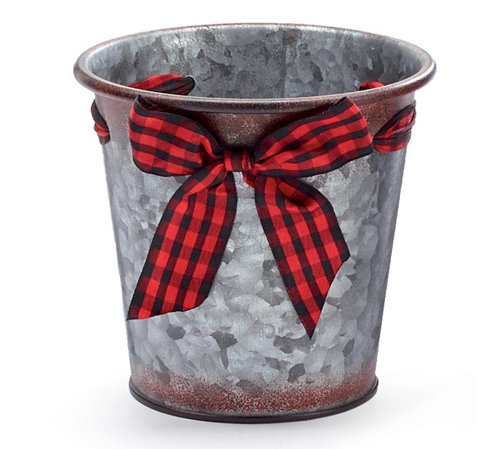 "4"" BUFFALO CHECK BOW POT COVER"