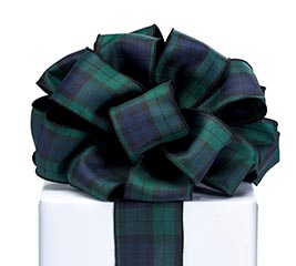 #40 BLUE/GREEN PLAID RIBBON