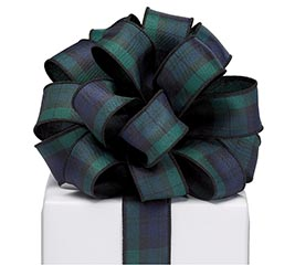 #9 BLUE/GREEN PLAID RIBBON