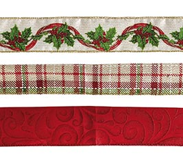 RIBBON #9 CHRISTMAS ASSORTED