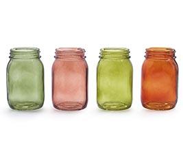 VASE GLASS PINT MASON JAR IN FALL COLORS