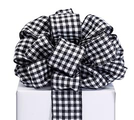 RIBBON #40 BLACK/WHITE CHECK