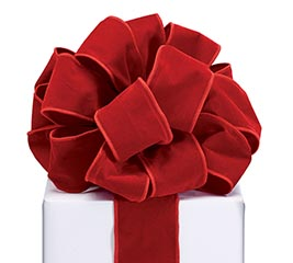 #40 RED VELVET WIRED RIBBON
