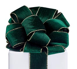 RIBBON #40 GREEN VELVET