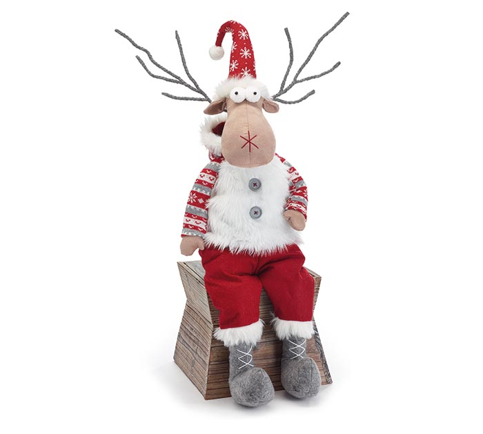PLUSH REINDEER SHELF SITTER