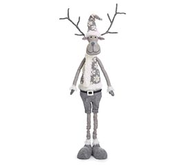 "46"" GRAY REINDEER WITH EXPANDABLE LEGS"