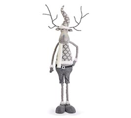 "76"" GRAY REINDEER WITH EXPANDABLE LEGS"
