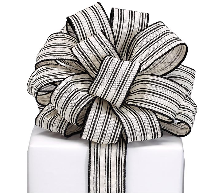 RIBBON #9 THIN BLACK STRIPES