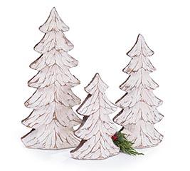 DISTRESSED WHITE TREE DECOR