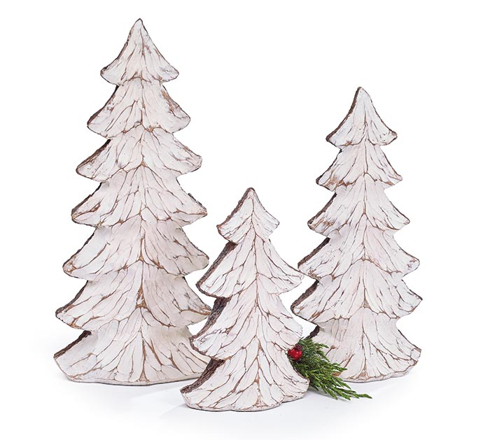 Distressed White Tree Decor