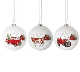 MERRY CHRISTMAS Y'ALL FARM ORNAMENTS