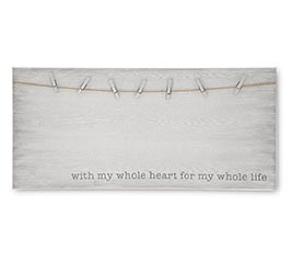 LARGE CLIP PHOTO HOLDER DISTRESSED WHITE