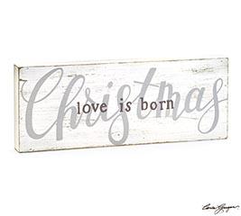 RUSTIC WHITE CHRISTMAS SHELF SITTER