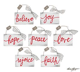 RELIGIOUS MESSAGE ORNAMENTS