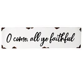 O COME ALL YE FAITHFUL TIN WALL HANGING
