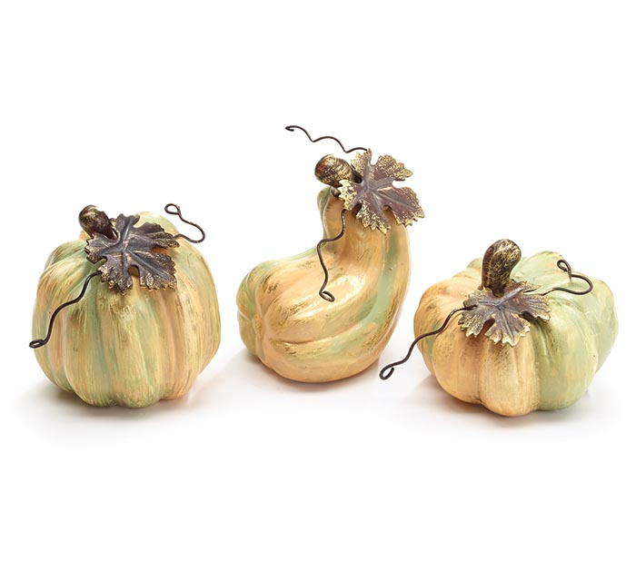 SMALLER VARIGATED DECOR PUMPKINS