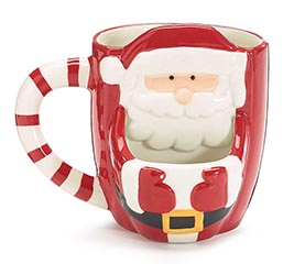 SANTA FRONT WITH POUCH FOR COOKIE MUG