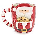 SANTA FRONT WITH POUCH FOR COOKIE MUG 1st Alternate Image