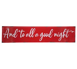 AND TO ALL A GOOD NIGHT WALL HANGING