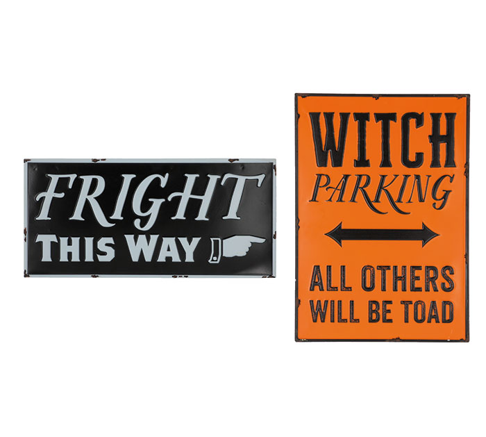 ASSORTED HALLOWEEN MESSAGE SIGNS