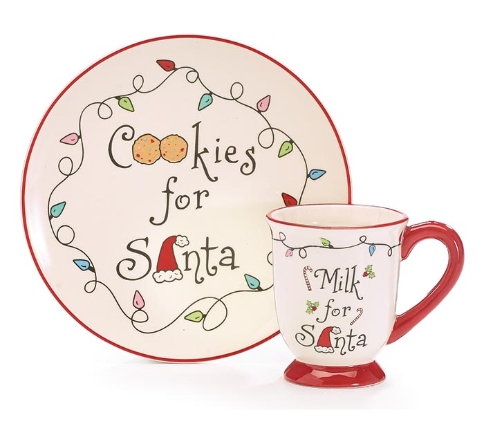MILK AND COOKIES FOR SANTA GIFT SET