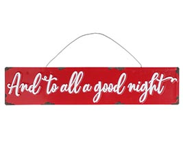 AND TO ALL A GOOD NIGHT TIN ORNAMENT