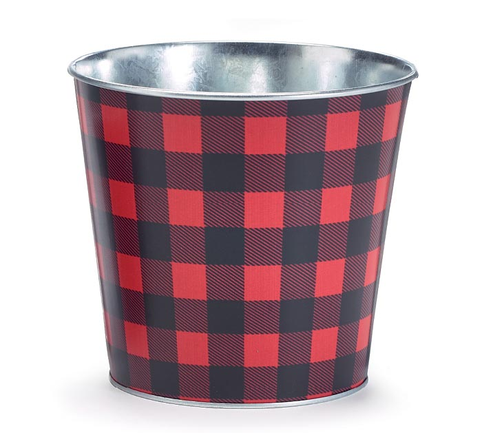 MATTE FINISH BUFFALO CHECK POT COVER