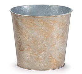 CREAM TIN POT COVER WITH GOLD FINISH