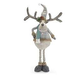 GRAY REINDEER WITH EXPANDABLE LEGS