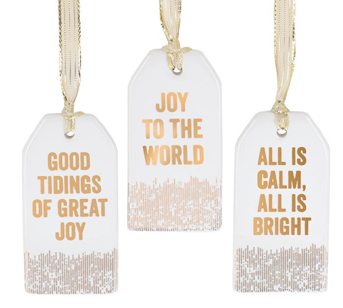SONG TITLE GIFT TAG ORNAMENTS