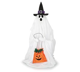 ANIMATED LIGHT UP TRICK OR TREAT GHOST