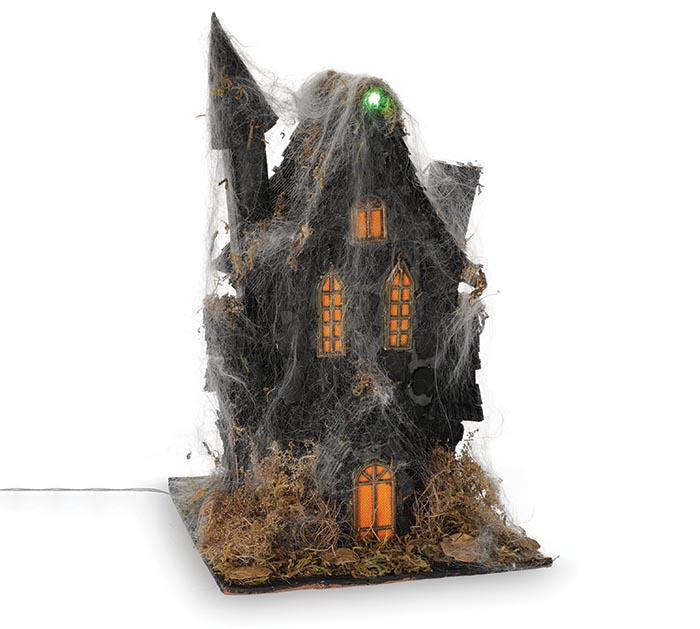 """16"""" HAUNTED HOUSE WITH LIGHT AND SOUND"""