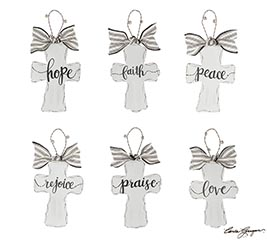 WHITE DISTRESSED CROSS ASSORTMENT