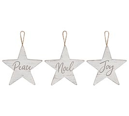 RUSTIC STAR ORNAMENTS WITH MESSAGES