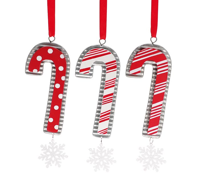 CANDY CANE ORNAMENT ASSORTMENT