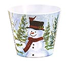 "4"" SNOWMAN MELAMINE POT COVER"
