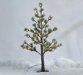"""36"""" GREEN PINE TREE WITH 54 LED LIGHTS"""