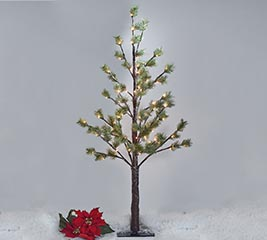 """48"""" GREEN PINE TREE WITH 78 LED LIGHTS"""