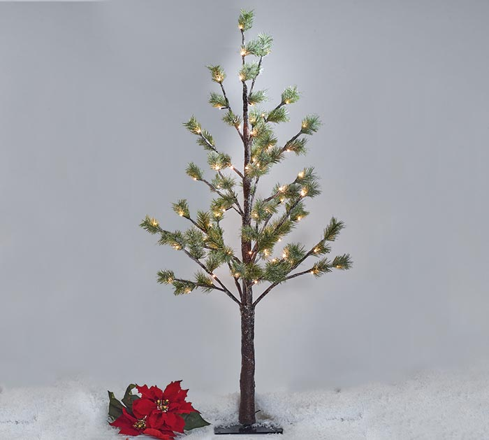 "48"" GREEN PINE TREE WITH 78 LED LIGHTS"